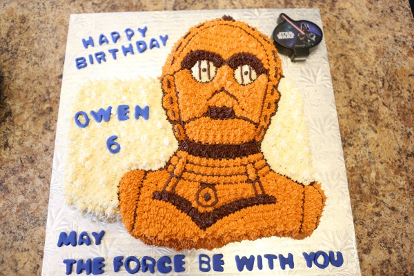 Owen 6 year birthday cake